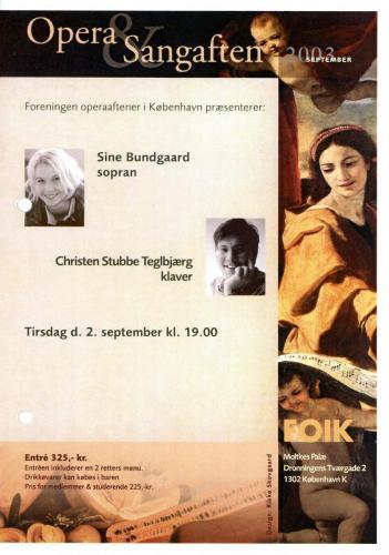 2003-09-02 - Sine Bundgaard-Christen Stubbe Teglbjærg